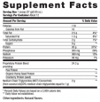 B100VPPVanilla nutrition label