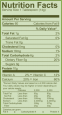 PGDream nutrition label