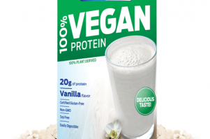 100% Vegan Protein Powder Vanilla Biochem