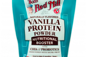 Vanilla Protein Powder Nutritional Booster Bob's Red Mill