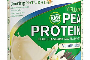 Organic Pea Protein Powder Vanilla Blast Growing Naturals