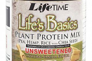 Plant Protein Natural Vanilla Lifetime Life's Basics