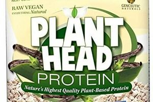 Protein Powder Vanilla Plant Head