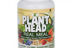 Real Meal Protein Powder Vanilla Plant Head