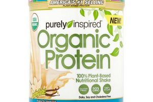 Organic Protein 100% Plant-Based Protein Vanilla Purely Inspired