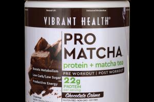 Pro Matcha protein + matcha tea Chocolate Vibrant Health