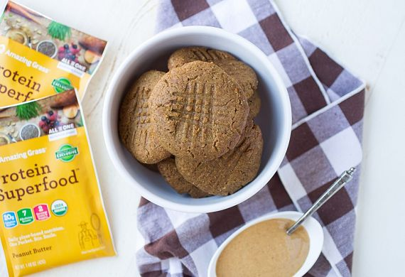 Protein Superfood Peanut Butter Cookies With Hidden Greens