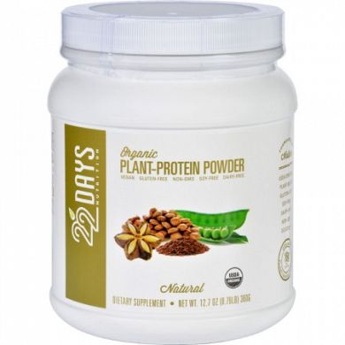 22 Days Nutrition Plant Protein Powder Natural product front