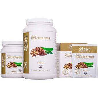 22 Days Nutrition Plant Protein Powder Natural product front 2