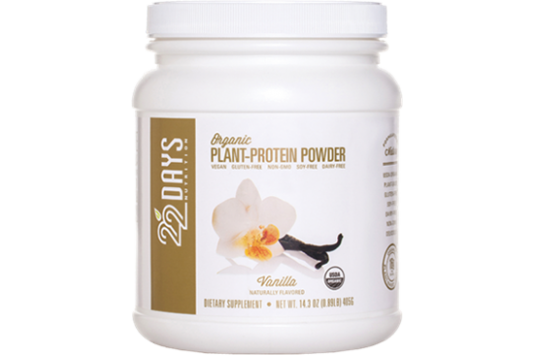22 Days Nutrition Plant Protein Powder Vanilla product front