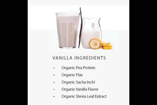 22 Days Nutrition Plant Protein Powder Vanilla ingredients