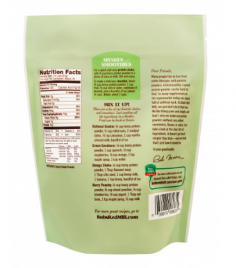 Bob's Red Mill Hemp Protein Powder product back