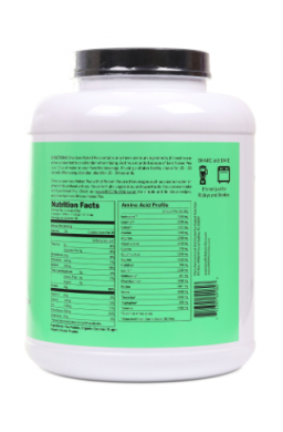 Naked Chocolate Pea Protein Powder nutrition label