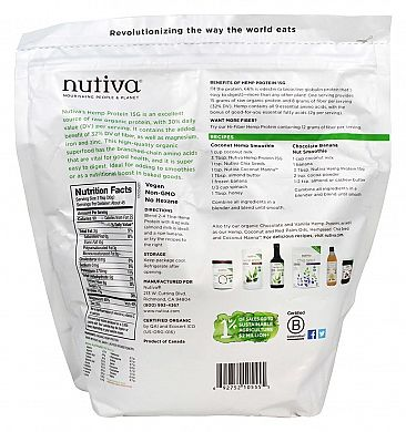Nutiva Organic Hemp Protein product back
