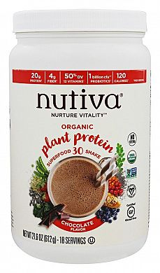 Nutiva Organic Plant Protein Superfood 30 Shake Chocolate product front
