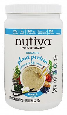 Nutiva Organic Plant Protein Superfood 30 Shake Vanilla product front