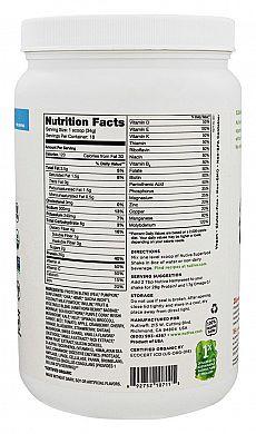 Nutiva Organic Plant Protein Superfood 30 Shake Vanilla nutrition label