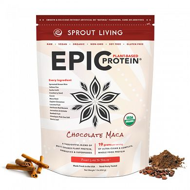 Sprout Living EPIC Protein Chocolate Maca product front